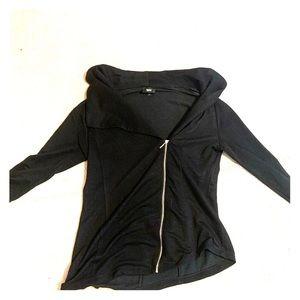 Black Zip Up Sweater!